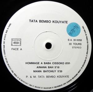 Tata Bembo Kouyate, label