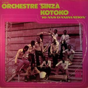 Orchestre Sinza Kotoko, front, cd size