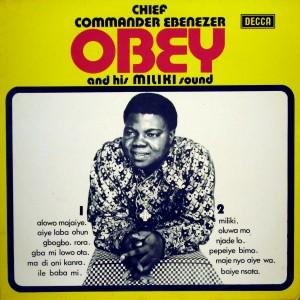 Ebenezer Obey, front