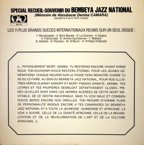 Bembeya Jazz National, front