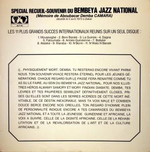 Bembeya Jazz National, front