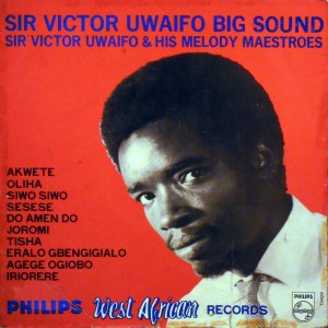 Sir Victor Uwaifo, front