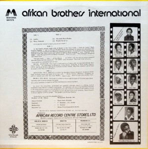 African Brothers, back