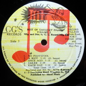 GG's Records, label