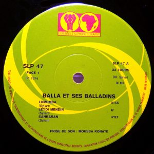 Balla et ses Balladins, label A-side