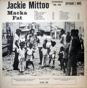Jackie Mittoo, achterkant